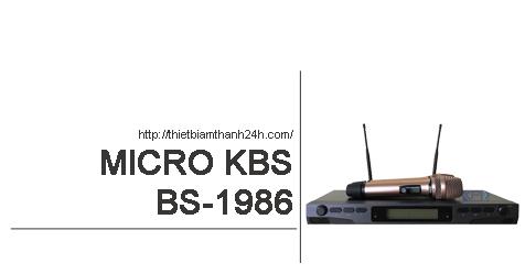 Micro không dây KBS BS 1986