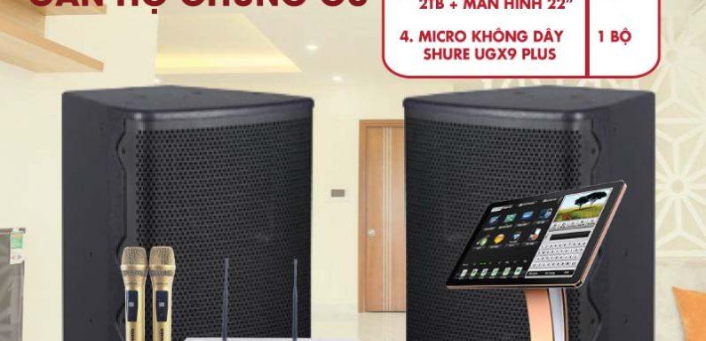 Dàn karaoke cho căn hộ chung cư bạn sẽ phải ngỡ ngàng