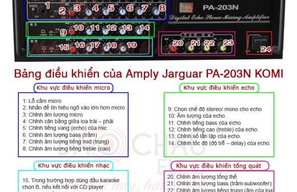 Hướng dẫn cách chỉnh amply Jarguar 203N gold đúng kỹ thuật