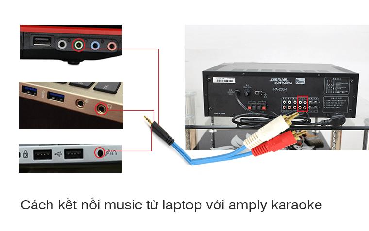 Hướng dẫn kết nối amply với laptop đúng kỹ thuật